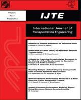 نشریه بین المللی مهندسی حمل و نقل (IJTE)