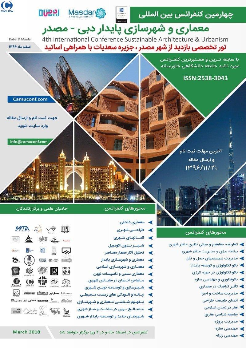چهارمین کنفرانس بین المللی معماری و شهرسازی پایدار