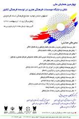 چهارمین همایش ملی نقش و جایگاه موسسات فرهنگی هنری در توسعه فرهنگی کشور