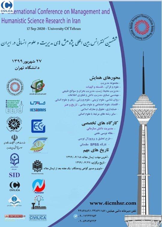 ششمین کنفرانس بین المللی پژوهش های مدیریت و علوم انسانی در ایران