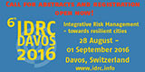 6th International Disaster and Risk Conference IDRC Davos 2016