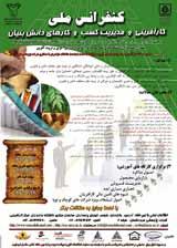 کنفرانس ملی کارآفرینی و مدیریت کسب و کارهای دانش بنیان