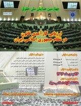 چهارمين همايش ملي حقوق ارزيابي كارآمدي قانون در نظام جمهوري اسلامي ايران