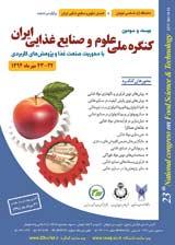 بيست و سومين كنگره ملي علوم و صنايع غذايي ايران