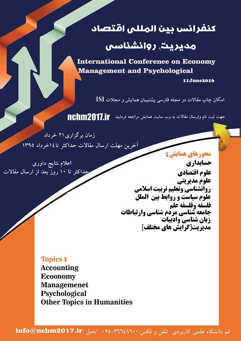 پوستر کنفرانس بینالمللی اقتصاد مدیریت، روانشناسی