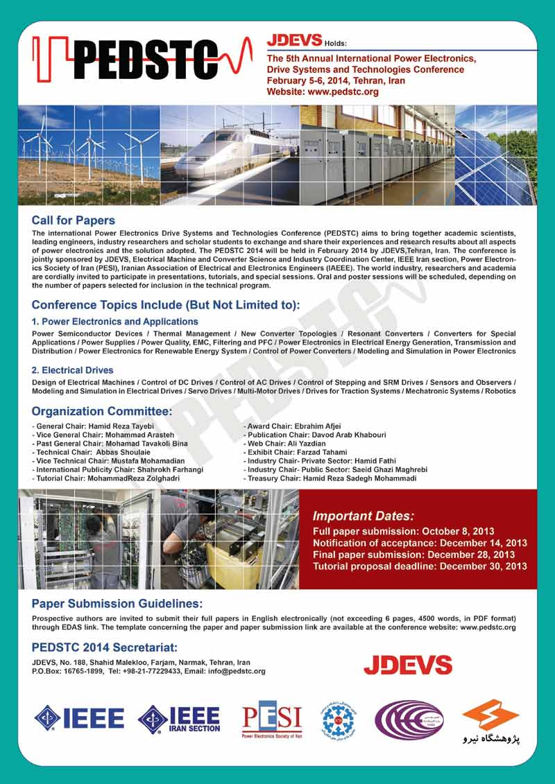 The 5th Annual International Power Electronics, Drive